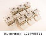 electric meter power tool... | Shutterstock . vector #1214955511