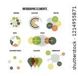 infographic elements  report... | Shutterstock .eps vector #1214955871