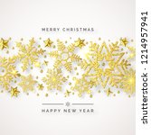 christmas background with... | Shutterstock .eps vector #1214957941