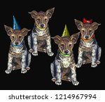 embroidery dogs. classical... | Shutterstock .eps vector #1214967994