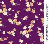 japanese style cherry blossom... | Shutterstock .eps vector #1214972494
