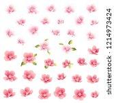 japanese style cherry blossom... | Shutterstock .eps vector #1214973424