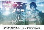 technology innovation and... | Shutterstock . vector #1214979631