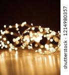 blur christmas lights on dark ... | Shutterstock . vector #1214980357