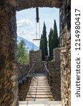 vezio   italy   july 2015 ... | Shutterstock . vector #1214980417