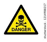 vector skull danger sign   Shutterstock .eps vector #1214988217
