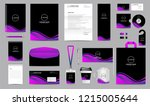 Stock vector corporate identity set stationery blank template design kit branding template editable with 1215005644