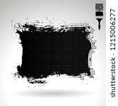 black brush stroke and texture. ...   Shutterstock .eps vector #1215006277