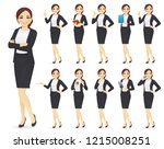 businesswoman character in... | Shutterstock .eps vector #1215008251