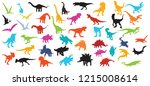big collection of dinosaur ... | Shutterstock .eps vector #1215008614