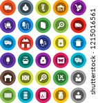 white solid icon set  washing...   Shutterstock .eps vector #1215016561