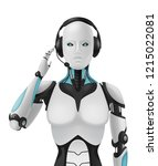 robot android realistic 3d...