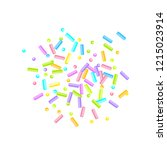 sprinkles grainy. sweet... | Shutterstock .eps vector #1215023914