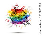 creative human brain in front... | Shutterstock .eps vector #1215029731