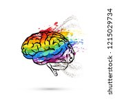 creative hemisphere of human... | Shutterstock .eps vector #1215029734