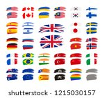 large set of grunge brush... | Shutterstock .eps vector #1215030157