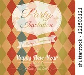vintage christmas card. vector | Shutterstock .eps vector #121503121