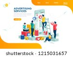 services  large media network... | Shutterstock .eps vector #1215031657