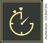 stopwatch vector icon 10 eps   Shutterstock .eps vector #1215037291