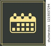 calendar icon isolated on green ...   Shutterstock .eps vector #1215037294