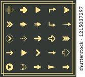 flat design paper arrows icon...   Shutterstock .eps vector #1215037297