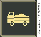 delivery web vector on green...   Shutterstock .eps vector #1215037321