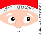 merry christmas. santa claus... | Shutterstock .eps vector #1215038431
