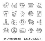 set of job seach icons  such as ... | Shutterstock .eps vector #1215042334