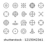 set of target line icons  such... | Shutterstock .eps vector #1215042361