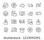 set of send icons  such as... | Shutterstock .eps vector #1215042391
