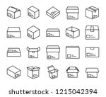 set of send box icons  such as... | Shutterstock .eps vector #1215042394