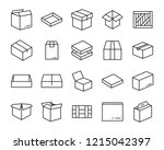 set of send box icons  such as... | Shutterstock .eps vector #1215042397