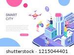 modern flat design isometric... | Shutterstock .eps vector #1215044401