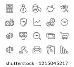 set of money line icons  such... | Shutterstock .eps vector #1215045217