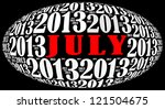 july 2013 info text graphics... | Shutterstock . vector #121504675