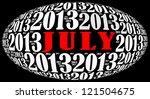 july 2013 info text graphics... | Shutterstock . vector #121504675