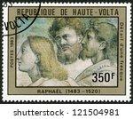 upper volta   circa 1983  a... | Shutterstock . vector #121504981