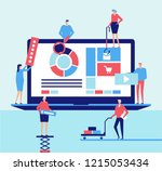 desktop application   flat... | Shutterstock . vector #1215053434