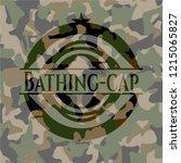 bathing cap on camouflaged...   Shutterstock .eps vector #1215065827
