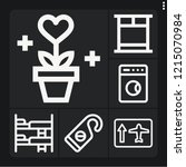 set of 6 interior outline icons ... | Shutterstock .eps vector #1215070984
