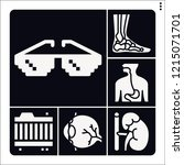 set of 6 medical filled icons... | Shutterstock .eps vector #1215071701