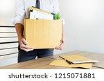 businessmen are holding... | Shutterstock . vector #1215071881