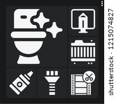 set of 6 equipment filled icons ... | Shutterstock .eps vector #1215074827