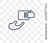 delivering box vector outline... | Shutterstock .eps vector #1215077161