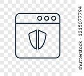 antivirus concept vector linear ... | Shutterstock .eps vector #1215077794