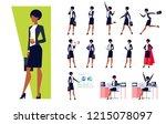 african american businesswoman... | Shutterstock .eps vector #1215078097