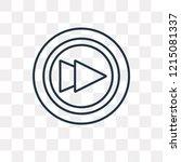 fast forward vector outline... | Shutterstock .eps vector #1215081337