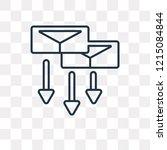 correspondence vector outline... | Shutterstock .eps vector #1215084844