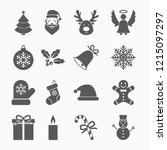 christmas set icon | Shutterstock .eps vector #1215097297