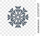 snowflake concept vector linear ... | Shutterstock .eps vector #1215107107